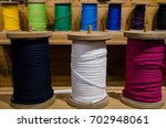 coloured shoelaces or rope in... | Shutterstock . vector #702948061