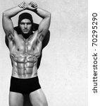 sexy fine art black and white... | Shutterstock . vector #70295290