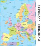 europe map   detailed vector... | Shutterstock .eps vector #702956569
