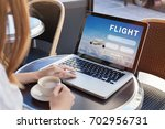 flight search on internet... | Shutterstock . vector #702956731