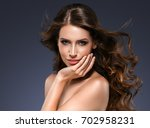 beautiful hair woman beauty... | Shutterstock . vector #702958231