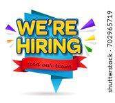 we are hiring banner design... | Shutterstock .eps vector #702965719