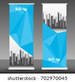 roll up banner stand template... | Shutterstock .eps vector #702970045
