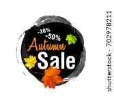 autumn sale. fall sale design...   Shutterstock .eps vector #702978211