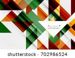 triangle pattern design... | Shutterstock .eps vector #702986524