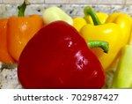chile morron | Shutterstock . vector #702987427