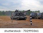 self propelled artillery msta m.... | Shutterstock . vector #702993361