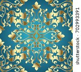 baroque damask seamless pattern.... | Shutterstock .eps vector #702993391