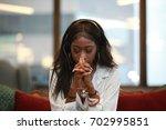 african american customer... | Shutterstock . vector #702995851