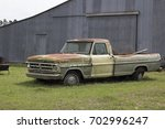 Classic Truck In A Field