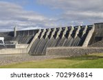 "Cherokee Dam in Jefferson County Tennessee USA.  Clean hydroelectric power provides ""green"" renewable energy."