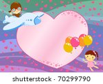 valentine day love card with a... | Shutterstock . vector #70299790