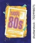 eighties retro banner design... | Shutterstock .eps vector #702998071