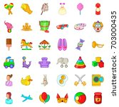 play in park icons set. cartoon ... | Shutterstock .eps vector #703000435