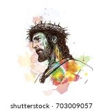 Watercolor Hand Drawn Sketch Of ...