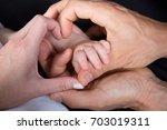a family of hands form a heart | Shutterstock . vector #703019311