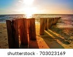 Wooden Groynes At The North Se...