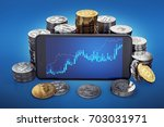cryptocurrency grow graph on... | Shutterstock . vector #703031971