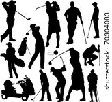 Golf Players And Equipment...