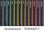 creative wall calendar 2018... | Shutterstock .eps vector #703046977