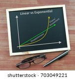 exponential growth and linear... | Shutterstock . vector #703049221