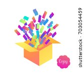 bright gift box. holiday or... | Shutterstock .eps vector #703054459