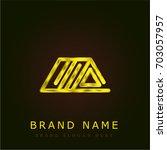 roof golden metallic logo