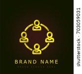 workers golden metallic logo