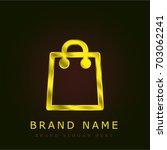 reusable shopping bag golden...