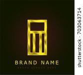 eraser golden metallic logo