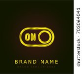 switch on golden metallic logo