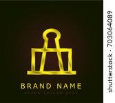 clip golden metallic logo