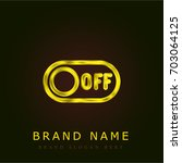 switch off golden metallic logo