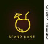 coconut golden metallic logo