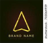 navigation golden metallic logo