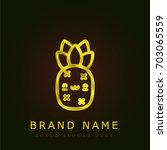 pineapple golden metallic logo