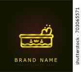 pool golden metallic logo