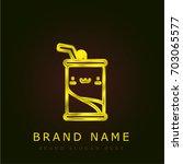 soda golden metallic logo