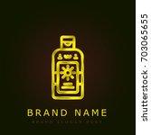 bronzer golden metallic logo