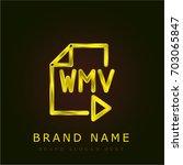 wmv golden metallic logo