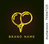 balloons golden metallic logo