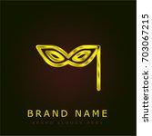 eye mask golden metallic logo