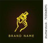 gun golden metallic logo