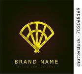 fan golden metallic logo