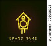 cuckoo golden metallic logo