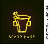 mortar golden metallic logo