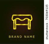 table golden metallic logo
