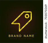tag golden metallic logo