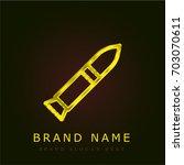 rocket golden metallic logo