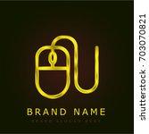 mouse golden metallic logo